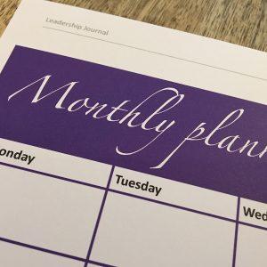 Monthly Planner - Professional Development | Leadership Skills