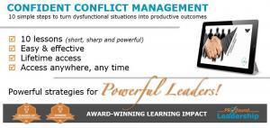Confident Conflict Management - Online Course - Blog Banner Image - Leadership Skills - Professional Development