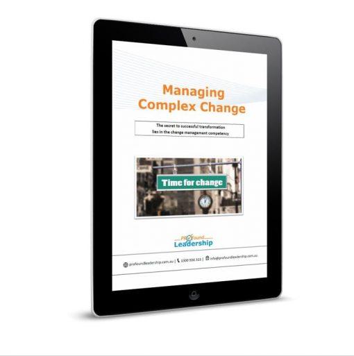 Managing Complex Change Cover - Disruptive Leadership - Leadership Skills - Professional Development