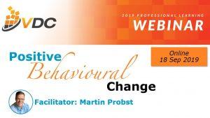 Webinar Positive Behavioural Change - Leadership Training - VET Development Centre